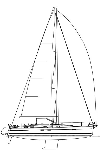 Line Drawing Yacht : Sailing boat plan drawing