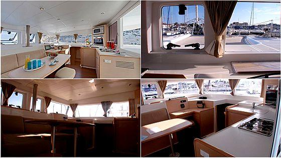 Lagoon Salon Windows on Lagoon 400 Catamaran